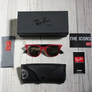 Ray-Ban Red & Black Liteforce Gold Lens Sunglasses